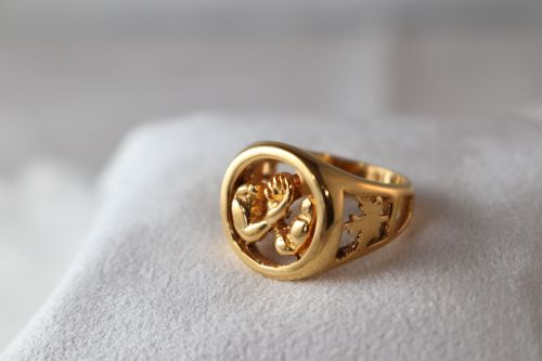 AWC Canada Pride Ring in Gold