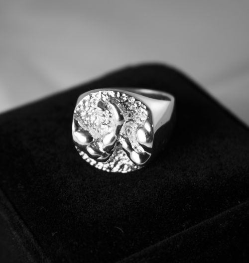 AWC Rocky Mountain Ring - SIlver on black box